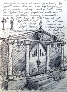 Journal Page - Glasgow - Ballpoint pen.