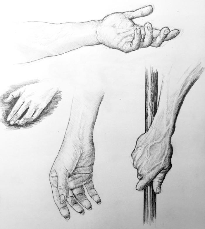 Hand Study - Graphite.