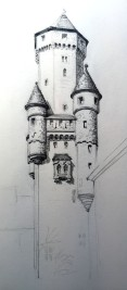 Turretted Tower - Graphite
