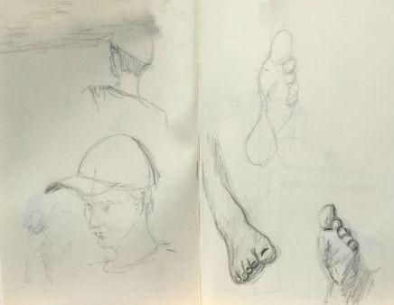 Sketch - Baseball Player / Feet