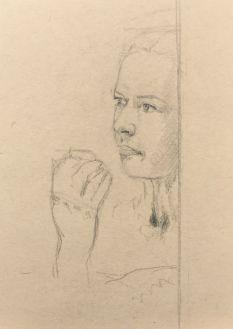 Sketch - Contemplative Woman