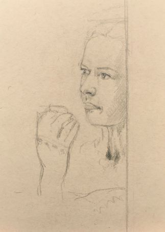 Sketch - Contemplative Woman