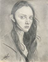 Sketch - Girl with Long Hair