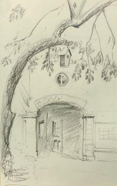 Sketch - Quebec City Lane