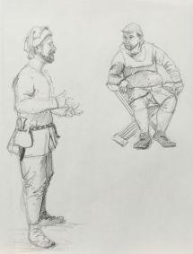 Sketch - Medieval Men